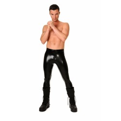 Svarta herrleggings i latex
