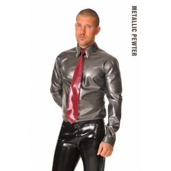 Latexskjorta i Metallic Pewter