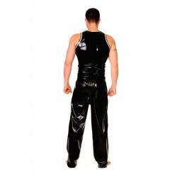 """Väst """"Zipper"""" i svart och vit latex, storlek M"""