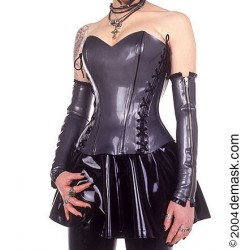 "Basque i röd latex, ""Deco-laced Princess Line"", storlek 5"
