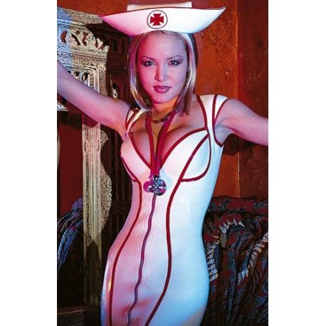 """Vit och röd hatt, """"nurse"""""""