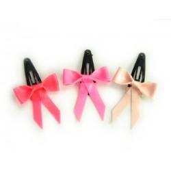 3 minihårspännen i latex, rosa kollektion
