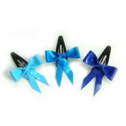 3 minihårspännen i latex, blå kollektion