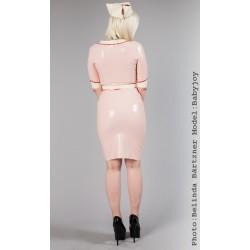 """Rosa latexklänning """"Nurse Amour"""""""