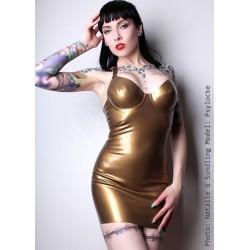 """Latexklänning """"Siren"""" i guld"""
