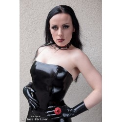 Bustier i svart latex